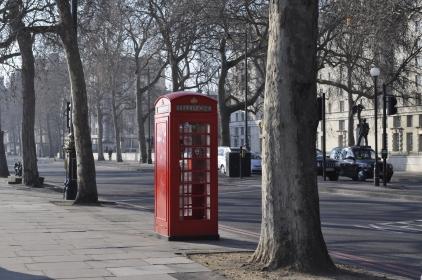 An der Themse - Telefonzelle